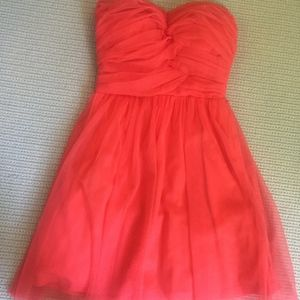 Coral strapless party dress from Delia*s - XXS/XS